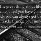 How far off track do you need to get before you turn back?